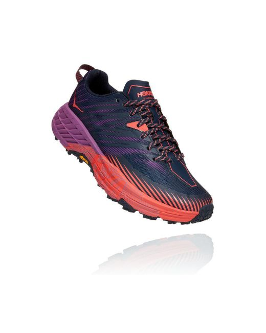 Hoka One One Blue Speedgoat 4 Outer Space / Hot Coral