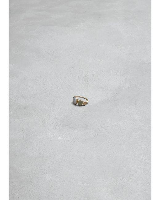 Mociun - Metallic Bubble Line Ring - Lyst