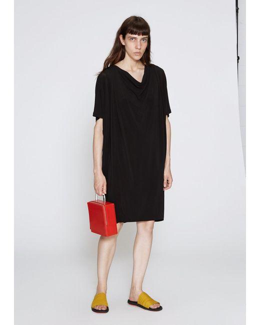 Issey Miyake - Black Drape Jersey Midi Dress - Lyst