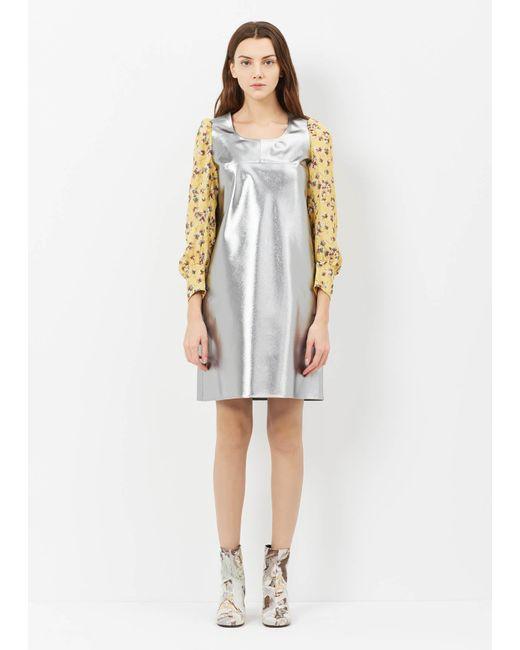 Junya Watanabe | Metallic Silver L/s Shift Dress | Lyst
