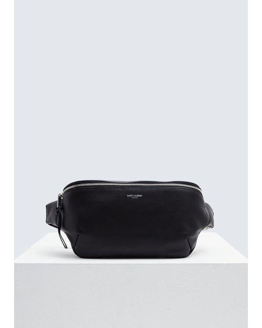 2bb71d4257 Saint Laurent - Black Leather Hip Bag for Men - Lyst ...