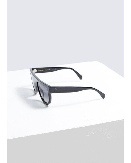 15e89a206f ... Céline - Black Square Aviator Sunglasses - Lyst