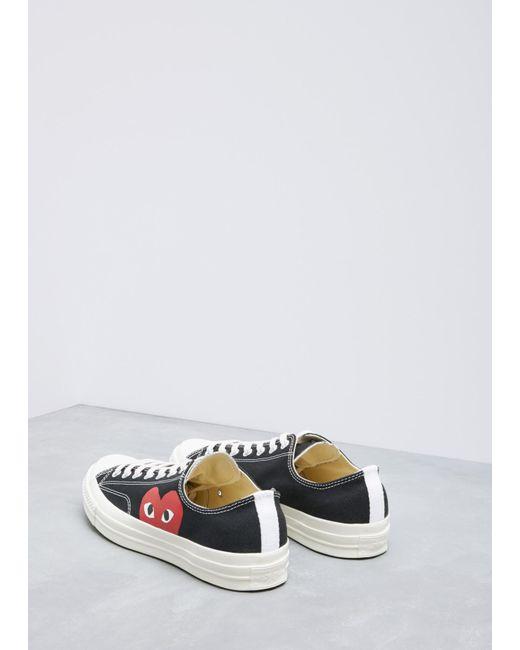 bfbb99ba9e37 ... COMME DES GARÇONS PLAY - Black Play Converse Chuck Taylor Low-top  Sneaker for Men ...