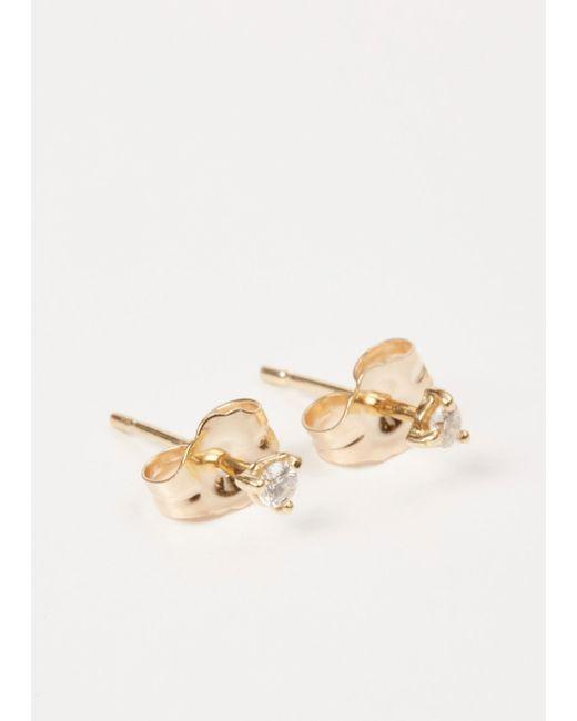 Wwake - Metallic Small Stud Earrings - Lyst