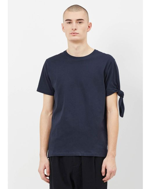 J.W. Anderson - Blue Single Knot T-shirt for Men - Lyst