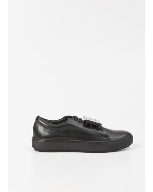 Acne | Black Adriana Leather Sneaker | Lyst