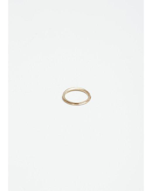 Wwake | Metallic 14k Gold Inverted Ring | Lyst