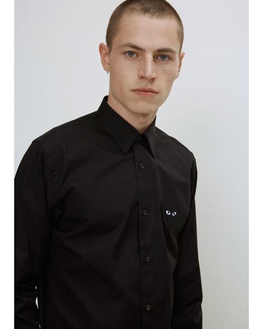 Play Comme des Garçons | Black Play Black Heart Shirt for Men | Lyst
