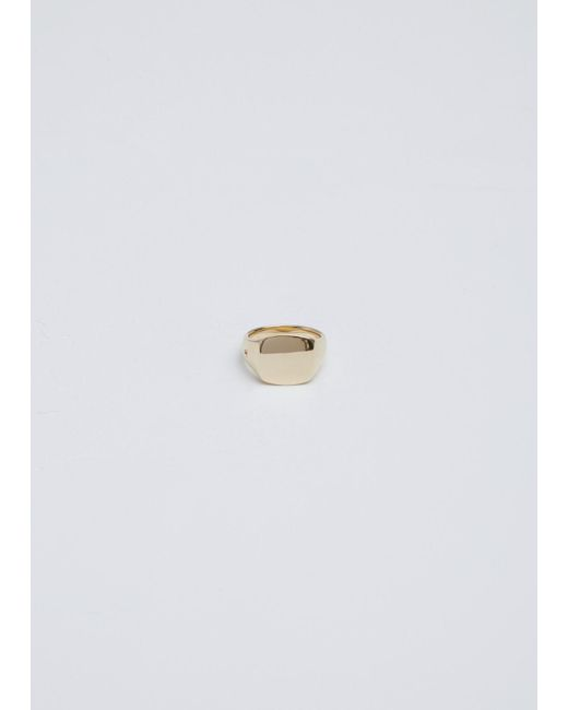 Tom Wood | Metallic 9k Gold Mini Signet Cushion Ring | Lyst