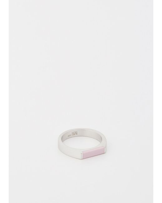 Ming Yu Wang | Metallic Sterling Silver / Pink Resin Theorem Ring | Lyst