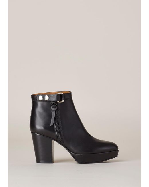 Acne | Black Orbit Ankle Boot | Lyst