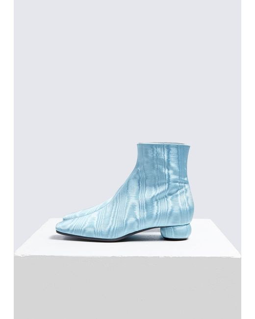 Ellery - Blue Rippled Effect Ankle Boots - Lyst