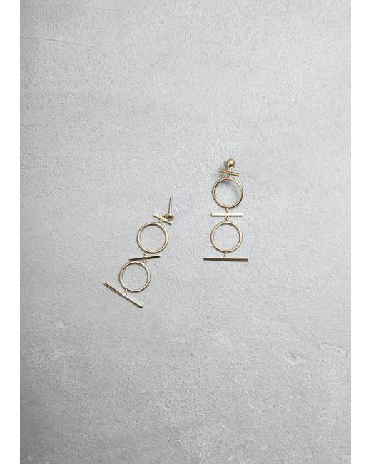 Mociun - Metallic Figure 9 Drop Earrings - Lyst