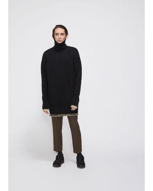 77c44bee30c Men's Black Oversized Turtleneck Sweater