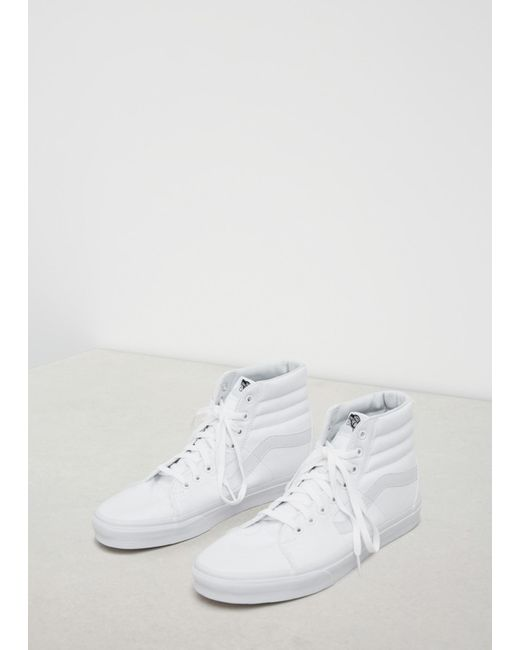 d1dc7656fbfb1a Lyst - Vans True White Men s Ua Sk8-hi Sneaker in White for Men