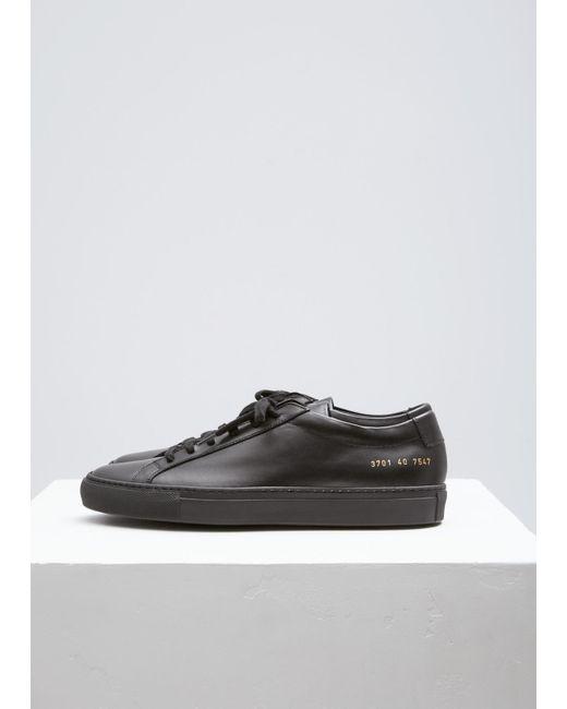 Common Projects Black Original Achilles Low Shoes
