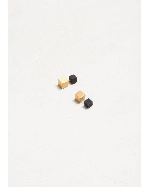 Ming Yu Wang - Multicolor Matte Blk/brass Eclipse Earrings - Lyst