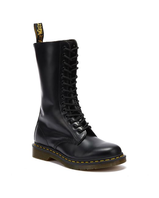 Dr. Martens Dr. Martens 1914 Womens Smooth Black Leather Boots