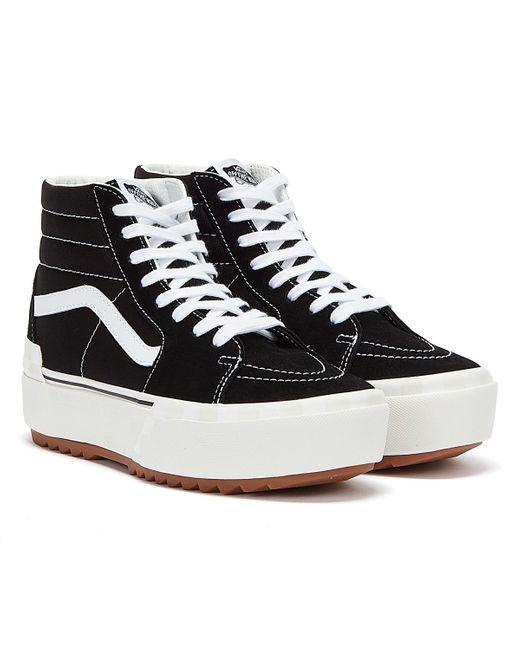 Sk8-Hi Stacked Baskets Noir / Blanc Pour Daim Vans en coloris Noir ...