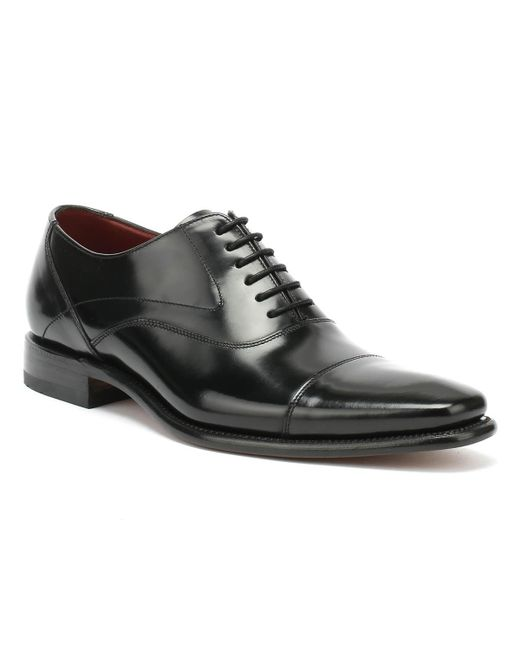Loake Sharp Mens Black Leather Shoes for men