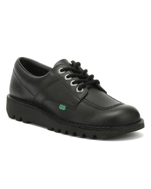 Kickers Mens Kick Lo Black Leather Shoes for men
