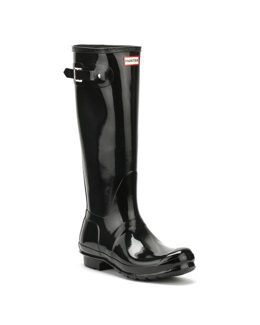 Hunter Black Women's Original Tall Gloss Rain Boots