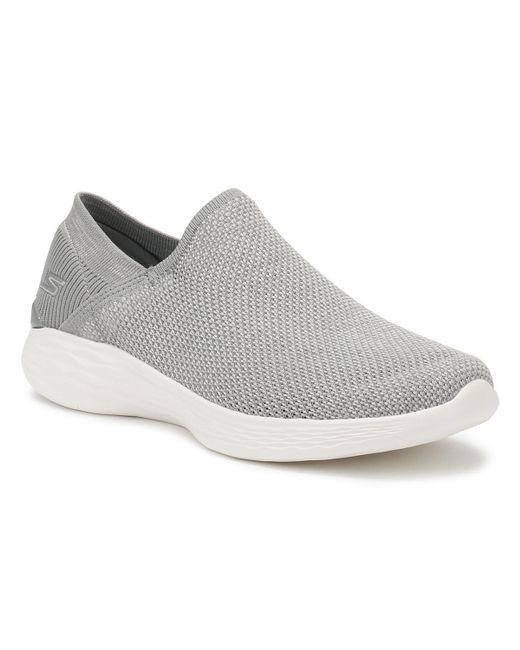 3ee1de0a451 Skechers - Gray Womens Grey You Rise Trainers Women s Slip-ons (shoes) In  ...