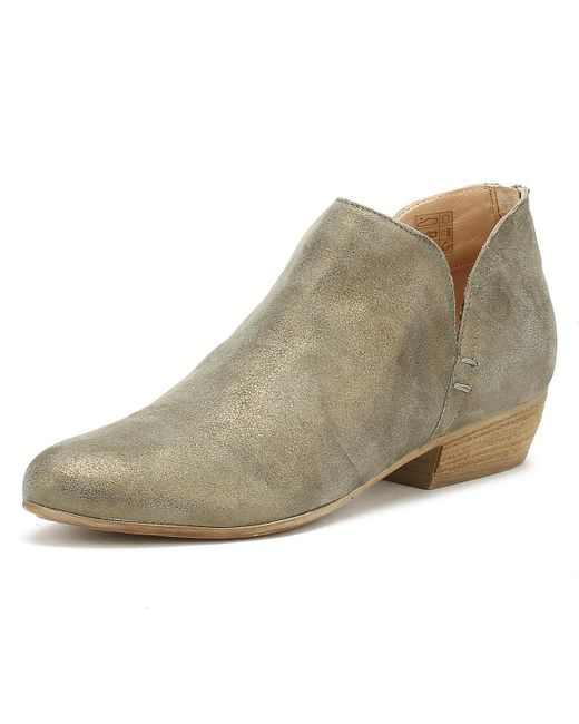 Cara Womens Gold Amazon Suede Baset Ankle Boots