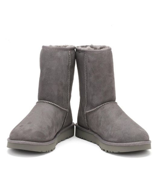 bb39928e455 UGG UGG Womens Grey Classic Short Ii Boots in Gray - Lyst