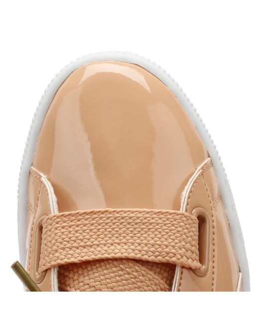 finest selection de5cb 9bfdb Orange Womens Dusty Coral Basket Heart Patent Sneakers