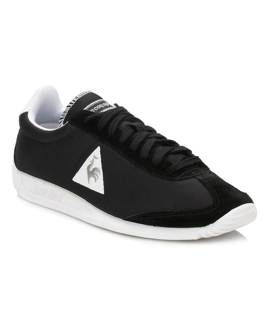 Le Coq Sportif | Mens Black/old Silver Quartz Nylon Trainers for Men | Lyst