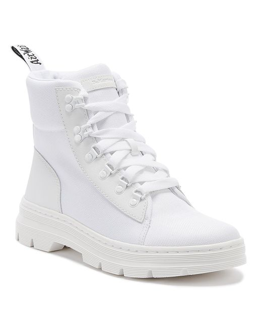 Dr. Martens Dr. Martens Combs Womens White Mono Boots