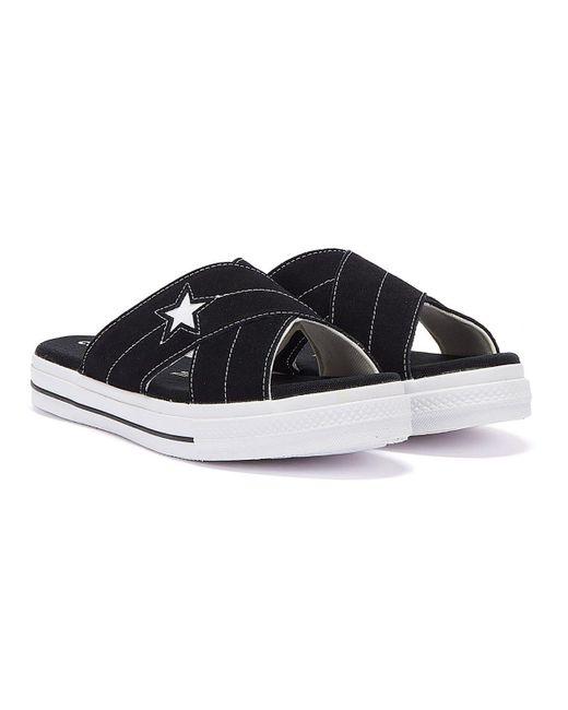 Converse One Star Suede Slip Sandal in