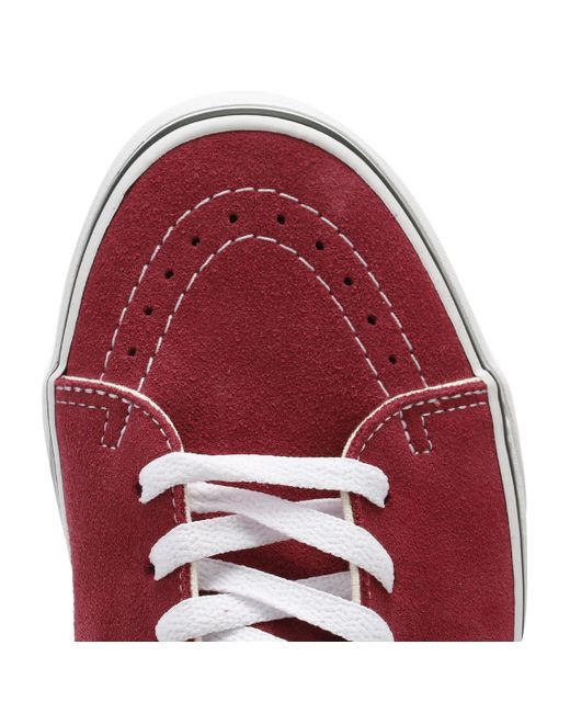 c1eeff849e3 Vans Dry Rose Red   True White Sk8-hi Trainers in Red - Save 54% - Lyst