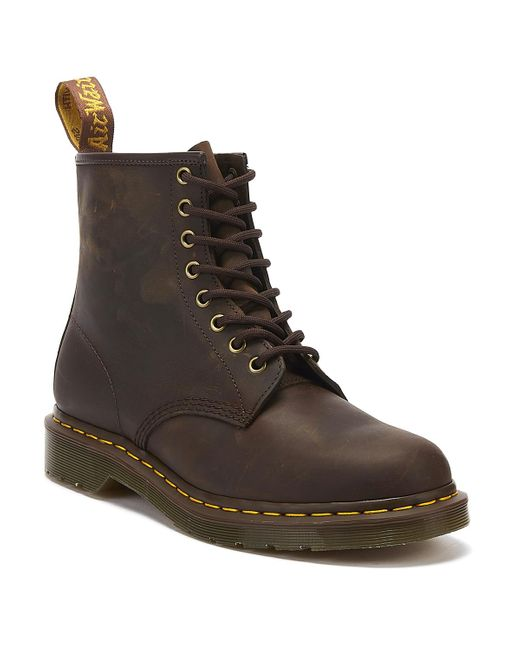 Dr. Martens Dr. Martens 1460 Crazy Horse Womens Gaucho Brown Leather Ankle Boots