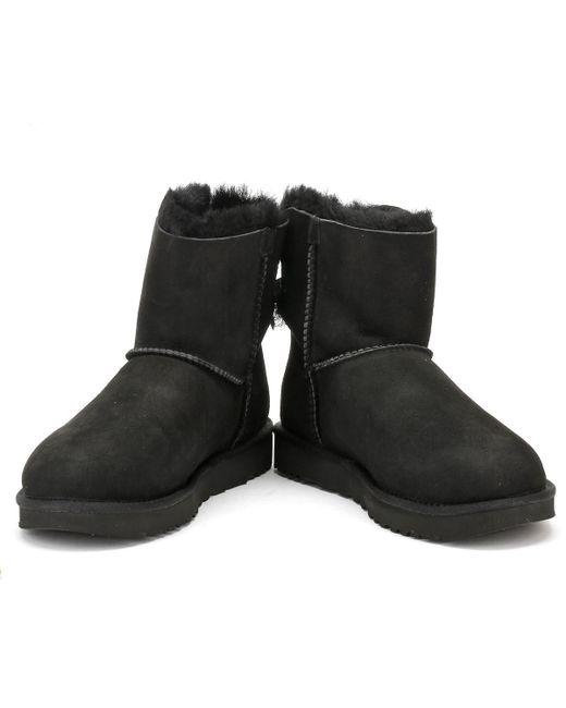 f9110ac438e UGG Womens Black Mini Bailey Bow Ii Boots