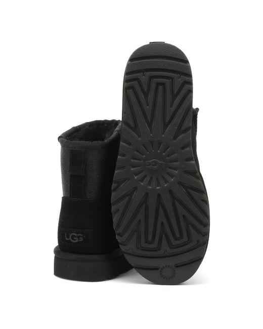 1f27f5f78fd UGG Womens Black Classic Mini Sparkle Boots