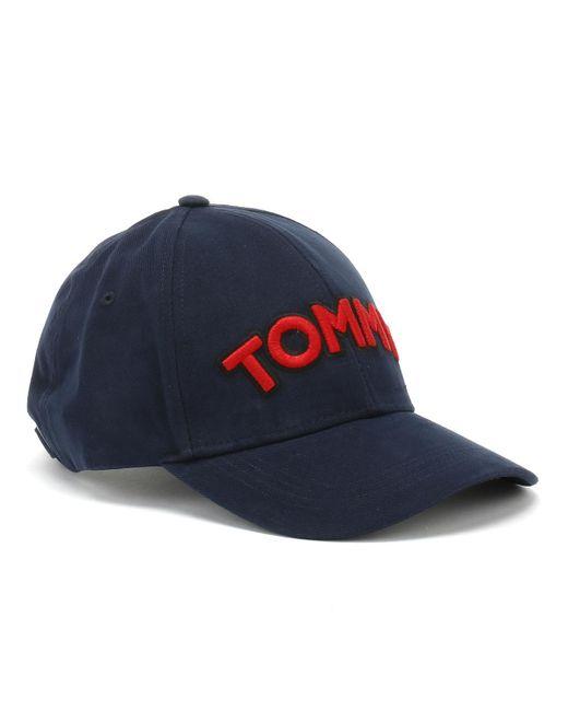 Tommy Hilfiger Blue Navy Patch Cap