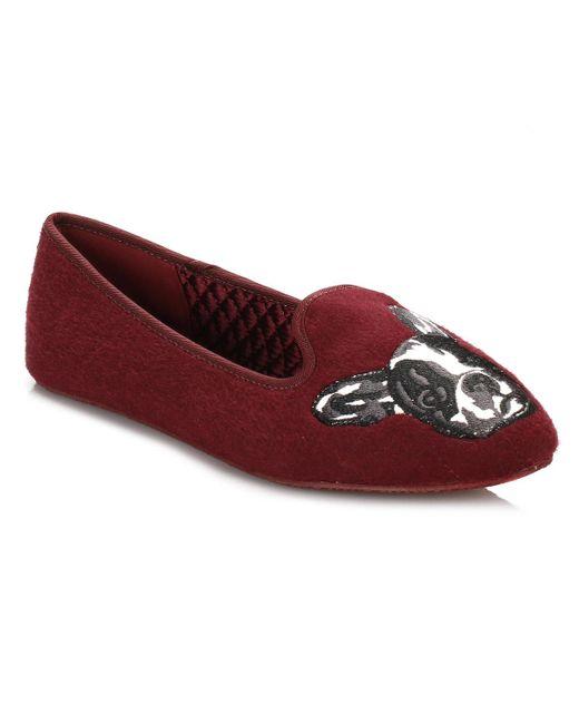 Ted Baker | Womens Burgundy Red Ayaya Wool Slippers | Lyst