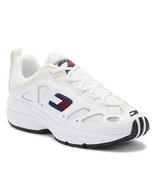 Tommy Hilfiger Tommy Jeans Retro Womens White Leather Trainers