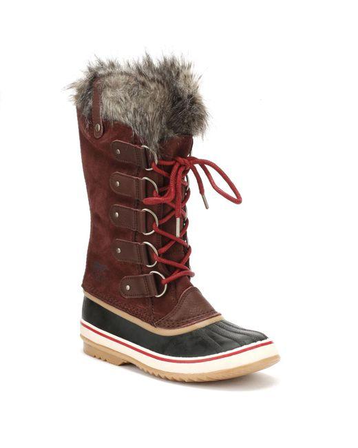 Sorel - Womens Redwood / Red Element Joan Of Arctic Boots - Lyst