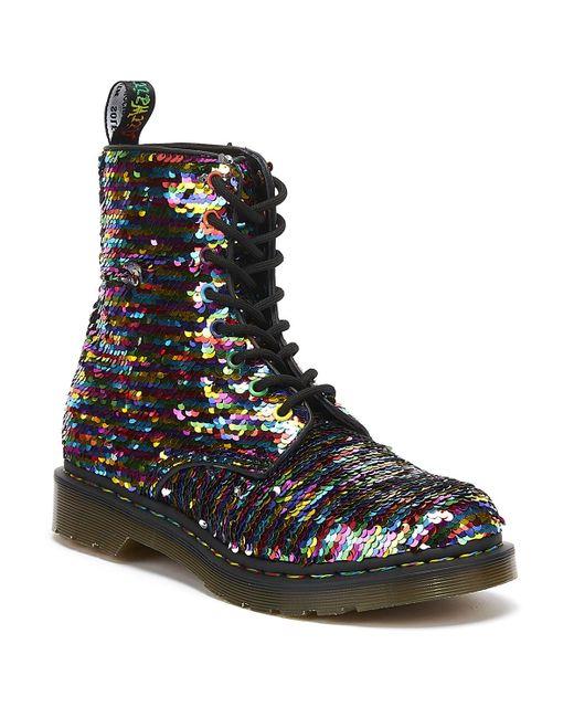 Dr. Martens Multicolor Dr. Martens 1460 Pascal Sequin Womens Multi / Silver Boots