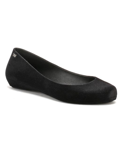 Zaxy | Womens Black Pop Flock Ii Ballerina Flats | Lyst
