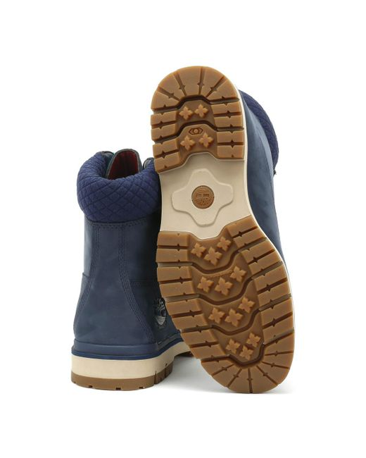 Timberland Rubber S Navy Radford 6 Inch D rings Boots in