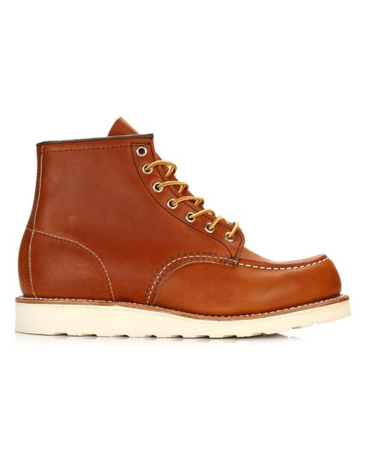 Red Wing - Brown Mens Oro Legacy 6-inch Moc Toe Boots for Men - Lyst