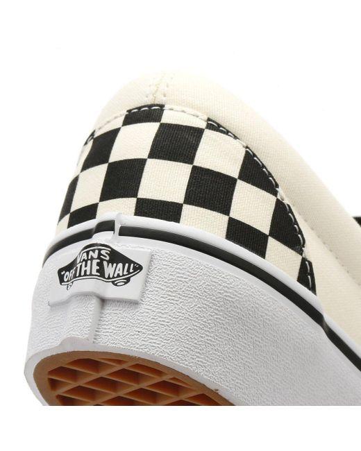 Vans Womens Black / White Checkerboard Slip On Platform Trainers
