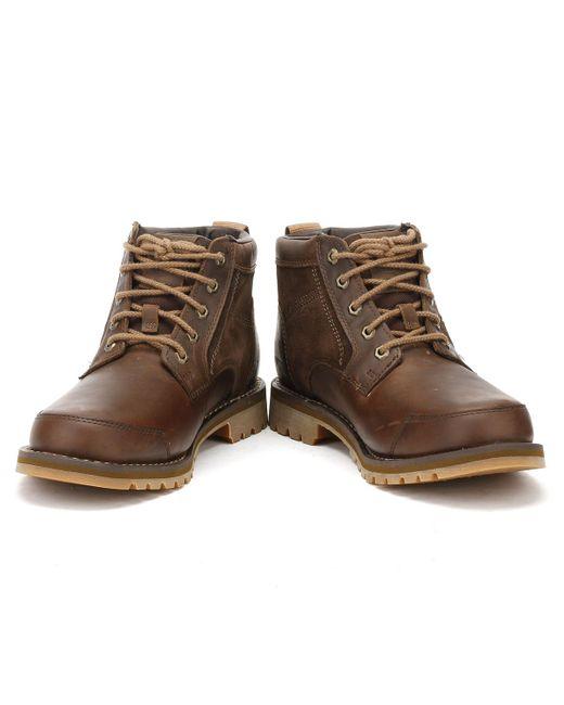 659c81485331 ... Timberland - Larchmont Mens Gaucho Dark Brown Chukka Boots for Men -  Lyst ...