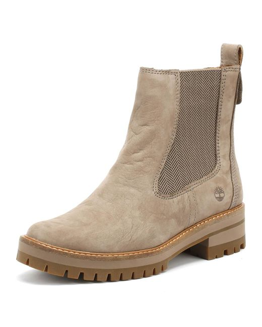 Timberland Brown Womens Taupe Courmayeur Valley Chelsea Boots