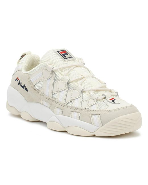 Men's Spaghetti Low White Sneakers