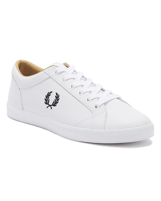 Fred Perry Baseline Mens White Leather